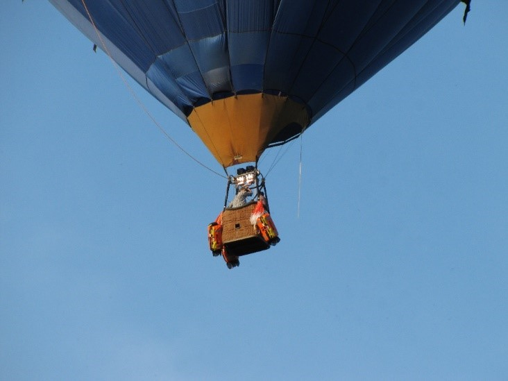 Drop-testing of life raft from hot-air balloon