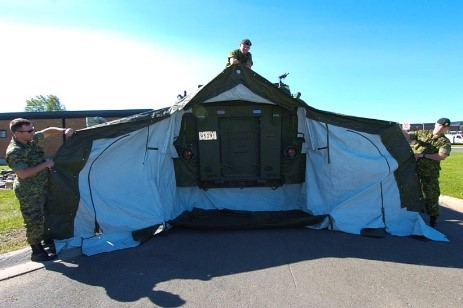 Test fitting at CFB Gagetown