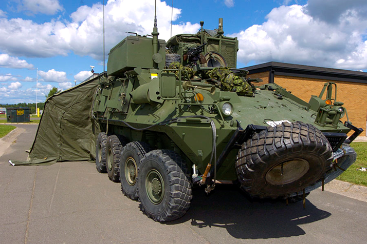 Bison CP vehicle with tent adapter installed