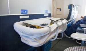 Bassinet in use