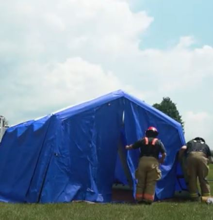 See our Inflatable Shelter in Action